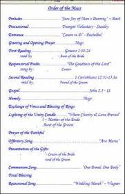 Catholic Mass Wedding Programs Wording For Wedding Program Traditional Catholic Mass Weddings