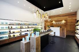 retail modern lighting spotted in aveda store