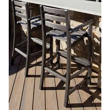 Bar Height Patio Dining Set by Patio Trex Patio Furniture Polywood Outdoor Dining Set