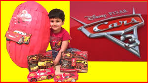 easter egg surprise hunt lots of disney cars 3 toys lightning