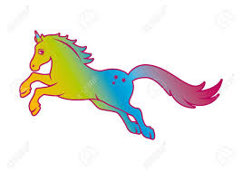unicorn rainbow unicorn rainbow vector fairytale horse on a white background