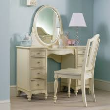 light blue accents wall paint of bedroom ideas with antique vanity