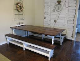 kitchen traditional solid wood kitchen table with bench and