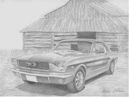 1967 ford mustang fastback pencil drawing styling concepts