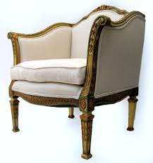 french painted gilt tub chair 19th century from blacktulip on ruby