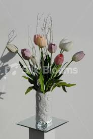 tulip arrangements shop fresh touch artificial tulip vase table floral arrangement