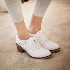 womens boots block heel womens block heel brogue retro casual pumps shoes strappy