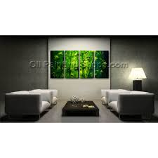 large unique original abstract feng shui oil painting bamboo zen