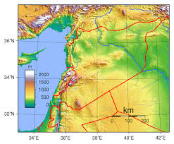 Topographical Map Of South America by Maps Of Syria Detailed Map Of Syria In English Tourist Map Of