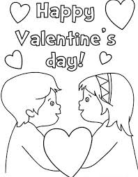 valentine love couple kids couple valentine coloring page boy