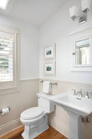 Powder Room With Pedestal Sink Kohler Pedestal Sink Powder Room Traditional With Bc Canada Chair