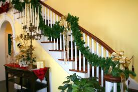 Banister Decorations For Christmas Altogether Christmas Decorating Indoor Christmas Decorating