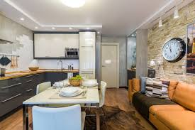Living Room And Kitchen Combo Small Kitchen Design Ideas