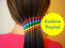 ribbon ponytail waterfall ribbon twist rainbow ponytail summer hairstyles