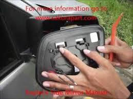 toyota yaris wing mirror glass replace side mirror manual instrallation