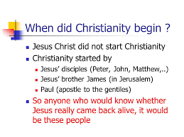 history of christianity ppt