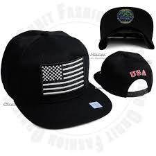 usa american flag snapback hat brim flat bill adjustable star