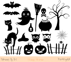free halloween party clipart halloween silhouette clip art halloween silhouette clipart set