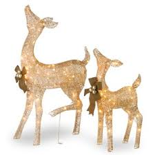 Christmas Decorations Outdoor Reindeer by Outdoor Christmas Decorations You U0027ll Love Wayfair