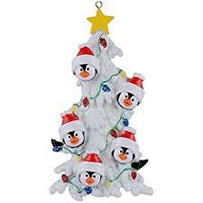 Black Bear Christmas Tree Ornaments by Amazon Com Black Bear Family 5 Personalized Christmas Tree