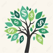 vector tree symbol of successful business royalty free