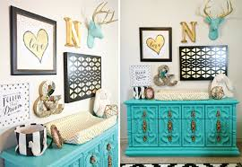 Black White Turquoise Teal Blue by Black White And Gold Nursery Project Nursery
