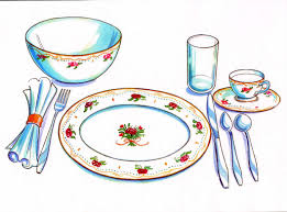 Setting The Table by Table Set Clipart Collection
