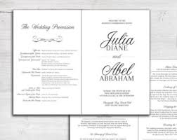 wedding ceremony bulletin wedding mass program etsy