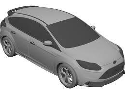model ford focus ford focus st 2012 3d model 3d cad browser