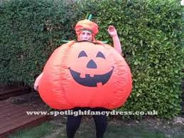 Pumpkin Costume Inflatable Pumpkin Costume Youtube