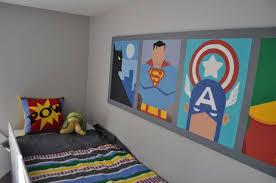 kids room classy small bedroom design with superhero wallpaper
