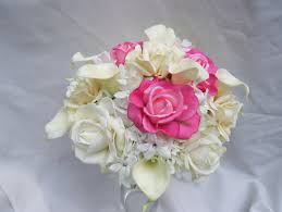 silk bridal bouquets shannon s silk bridal bouquet with pink roses ivory garden roses