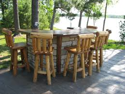 rustic outdoor bar furniture attractive for incredible household