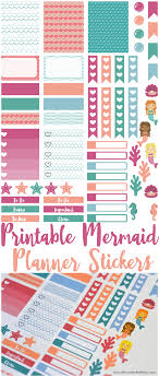 erin condren life planner free printable stickers free printable mermaid planner stickers from munchkins and the