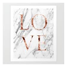 rose gold marble love art print 20 aud liked on polyvore