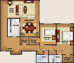 Two Bedroom Apartment Floor Plans Northwest Dc Two Bedroom Apartments 4000 Massachusetts Ave