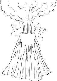 coloring pages volcano drawn volcano eruption pencil and in free coloring pages of general