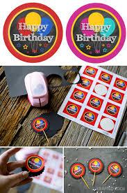 chalkboard birthday party designs free printables