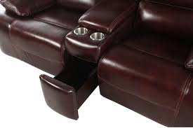 Loveseat Recliner With Console Simon Li Longhorn Cabernet Power Reclining Loveseat With Console