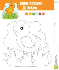 coloring page with chicken educational game drawing kids