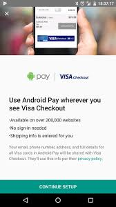 android pay stores android pay visa checkout available now one year later slashgear