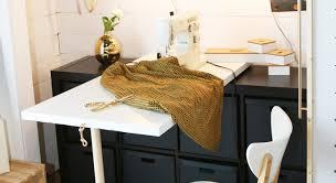 diy folding sewing table diy fold down sewing table petite modern life