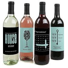 What Is A Good Housewarming Gift Amazon Com Home Sweet Home Wine Bottle Labels Housewarming