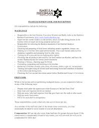 resume cook duties chef resume sample examples sous jobs prep