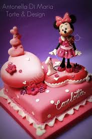 Marvelous Minnie Mouse 1st Wedding Anniversary Cake Between The