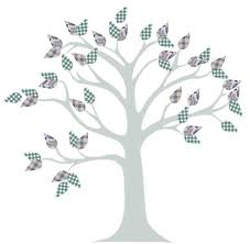 how to create an easy tree mural