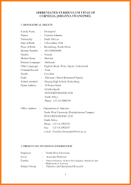 example of cv layout 5 student cv template south africa packaging clerks