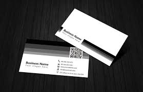 Simple Business Cards Templates Black U0026 White Qr Code Business Card Template Free