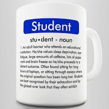 student definition funny mug ebay