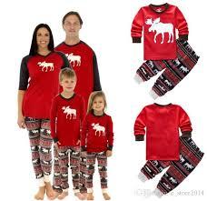 2017 family matching deer sleepwear